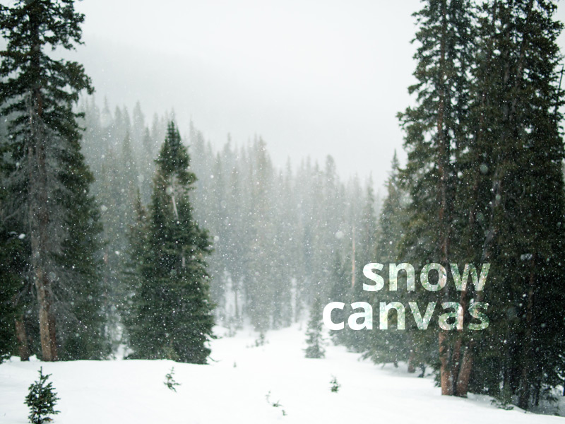 Snow Canvas